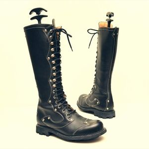 John Fluevog Seventh Heaven Tall Combat Boots